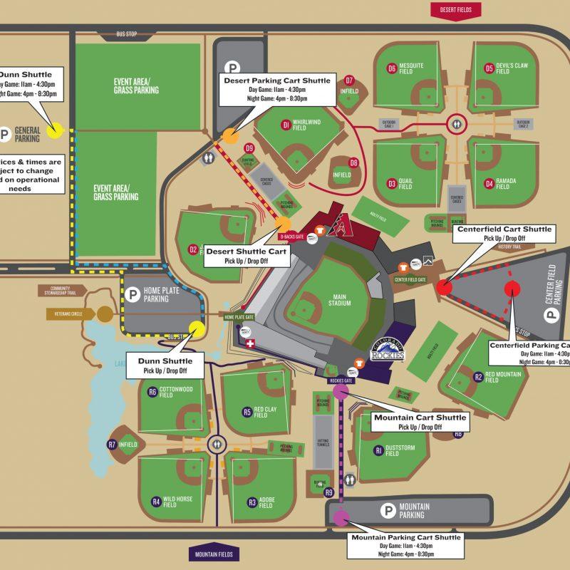 SRF Map Shuttle Map